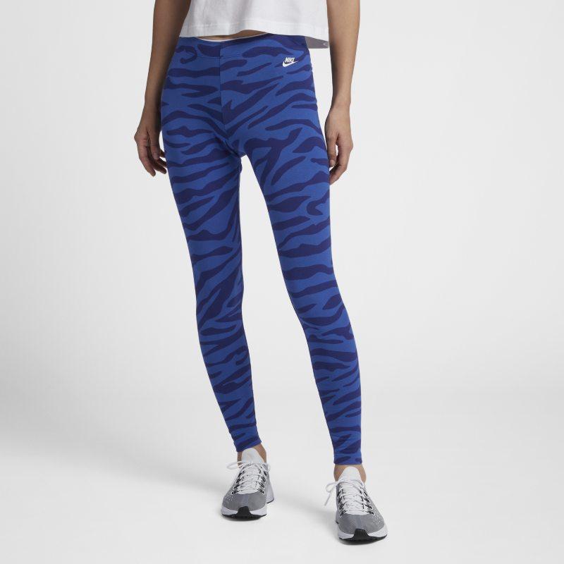 35cf48d03d Nike Sportswear Club Women's Animal Leggings - Blue