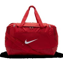Спортивная сумка Nike Club Team SwooshСпортивная сумка Nike Club Team Swoosh с сетчатыми вставками на боковых карманах, двойными ручками и съемной лямкой через плечо обеспечивает вентиляцию экипировки и позволяет переносить вещи с полным комфортом.<br>