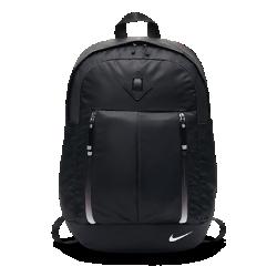 Рюкзак для тренинга Nike AuraluxРюкзак для тренинга Nike Auralux с основным отделением на молнии, отделением для ноутбука и мягкими лямками обеспечивает комфорт и удобство.  Удобные отделения  Вместительное основное отделение для экипировки и отделение с амортизирующей вставкой для ноутбука с диагональю 15 дюймов. Внешние карманы для хранения мелочей.  Дышащие вставки  Вставка из сетки, прилегающая к спине, для вентиляции и комфорта.<br>