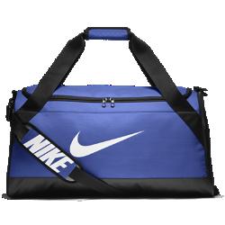 Сумка-дафл для тренинга Nike Brasilia (средний размер)Сумка-дафл для тренинга Nike Brasilia из прочных влагонепроницаемых материалов с вентилируемым карманом как для влажной, так и сухой обуви позволяет удобно хранить экипировку.<br>