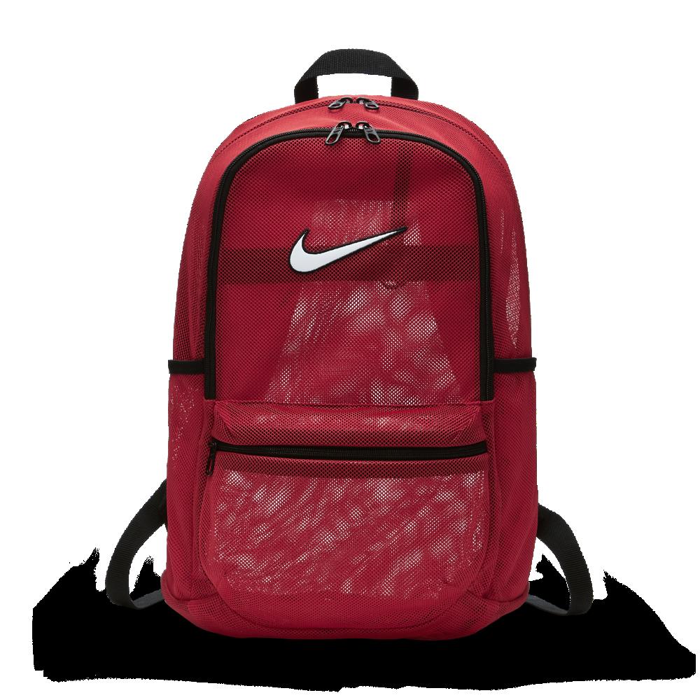 <ナイキ(NIKE)公式ストア> ナイキ ブラジリア メッシュ トレーニングバックパック BA5388-657 レッド ★30日間返品無料 / Nike+メンバー送料無料