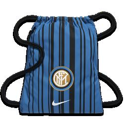 Футбольный мешок на завязках Inter Milan StadiumФутбольный мешок на завязках Inter Milan Stadium с легкой минималистичной конструкцией и фирменными деталями позволяет иметь под рукой всю нужную экипировку.<br>