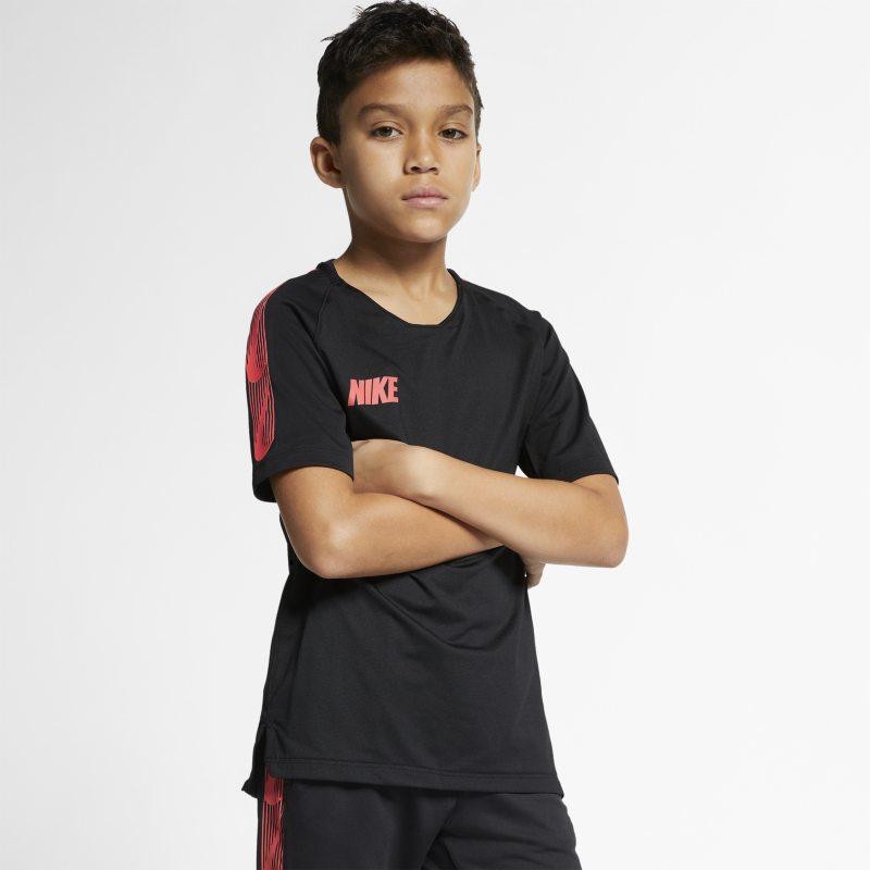 Nike Breathe Squad Kısa Kollu Genç Çocuk Futbol Üstü  BQ3763-011 -  Siyah S Beden Ürün Resmi