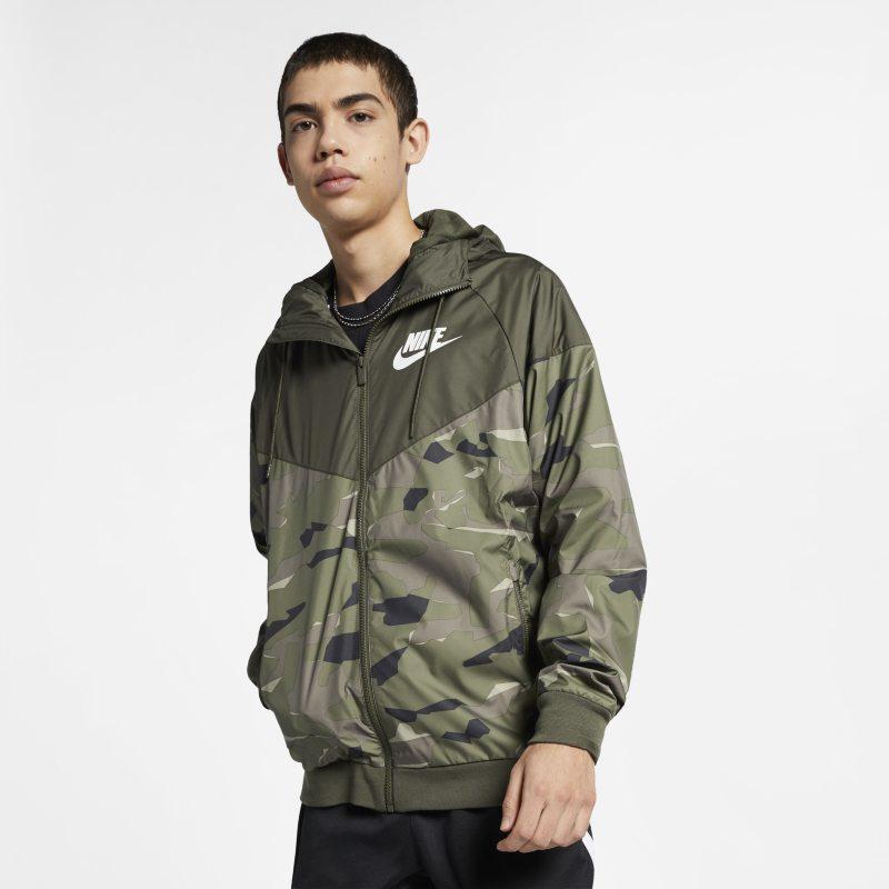 Nike Sportswear Windrunner Kamuflaj Desenli Erkek Ceketi  BQ4539-325 -  Haki L Beden Ürün Resmi