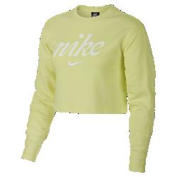 <ナイキ(NIKE)公式ストア>ナイキ スポーツウェア ウィメンズ クロップド クルー BQ8032-335 グリーン ★30日間返品無料 / Nike+メンバー送料無料!画像