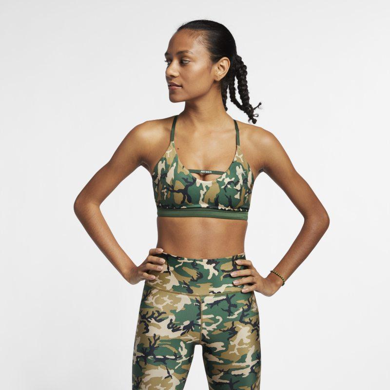 Nike Indy Sujetador deportivo de sujeción ligera de camuflaje - Mujer - Marrón