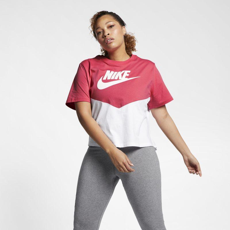 Nike Büyük Beden  BV0302-850 -  Sportswear Heritage Kısa Kollu Kadın Üstü 2X Beden Ürün Resmi