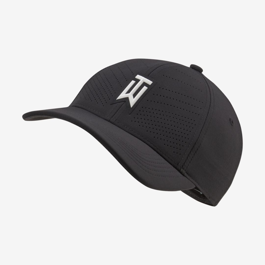 Nike AeroBill Tiger Woods Heritage86 Golf Hat (Black)