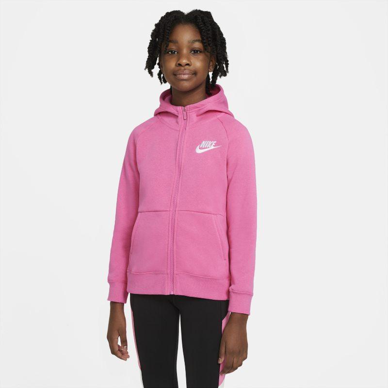 Nike Sportswear Hoodie met rits voor meisjes - Roze