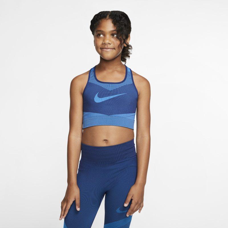 Nike FE/NOM Sujetador deportivo sin costuras - Niña - Azul