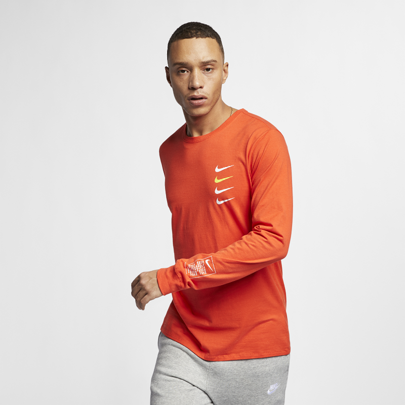 <ナイキ(NIKE)公式ストア>ナイキ スポーツウェア メンズ ロングスリーブ Tシャツ BV3062-891 オレンジ