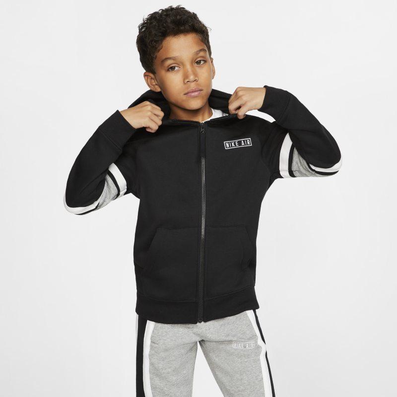 Nike Air Hoodie met rits voor kids - Zwart