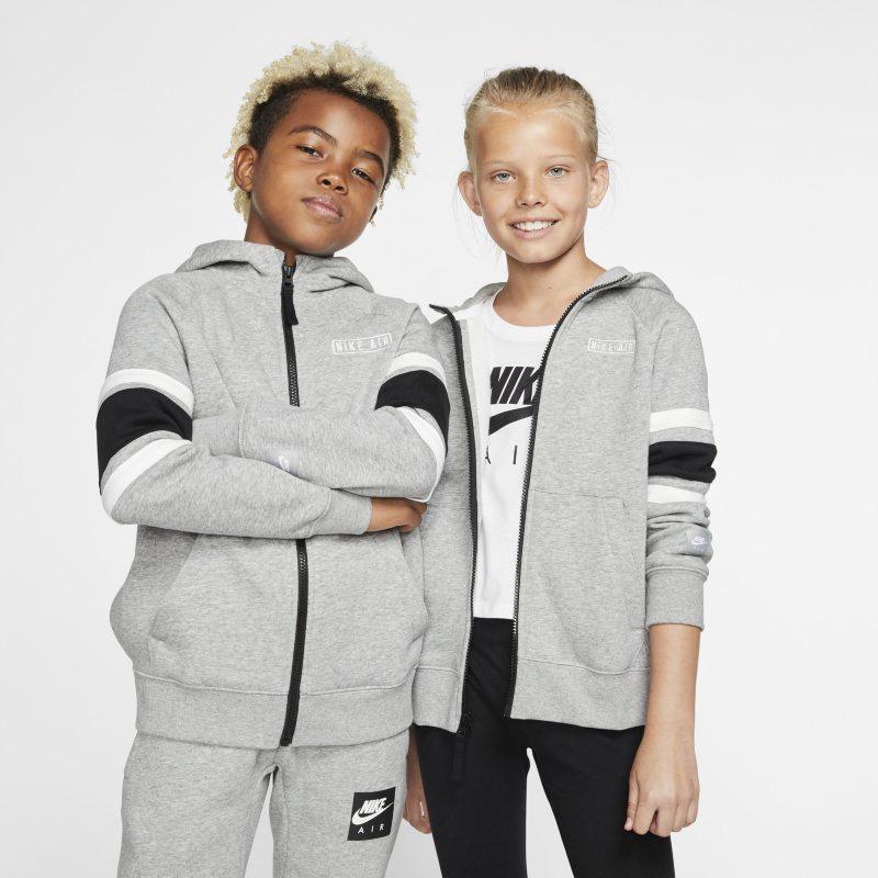 Nike Air Hoodie met rits voor kids - Grijs