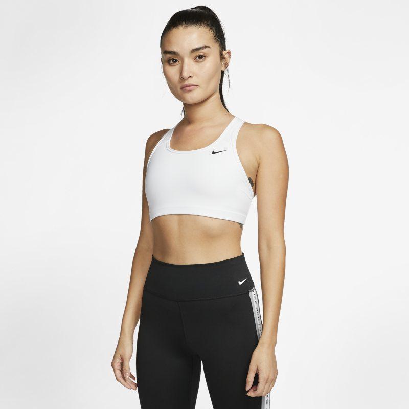 Nike Swoosh Sujetador deportivo de sujeción media sin acolchado - Mujer - Blanco
