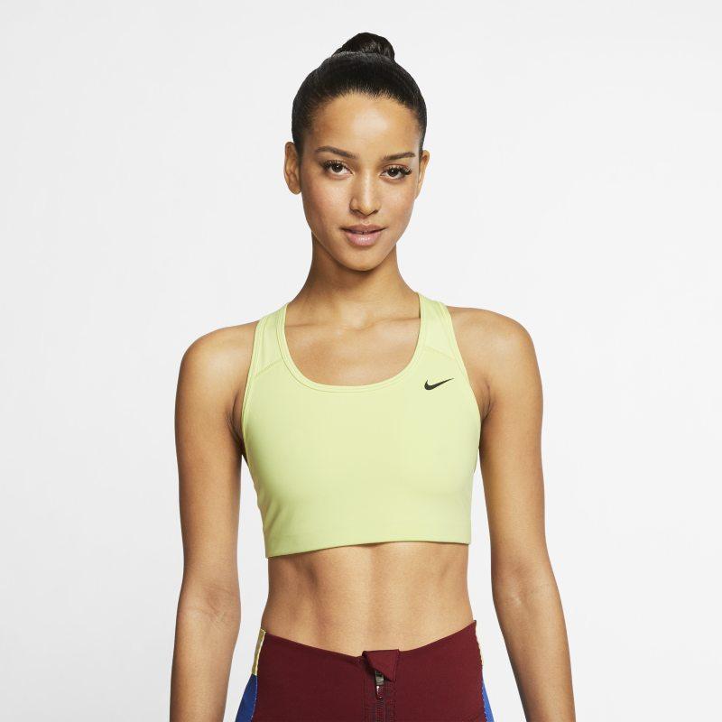 Nike Swoosh Sujetador deportivo de sujeción media sin acolchado - Mujer - Verde