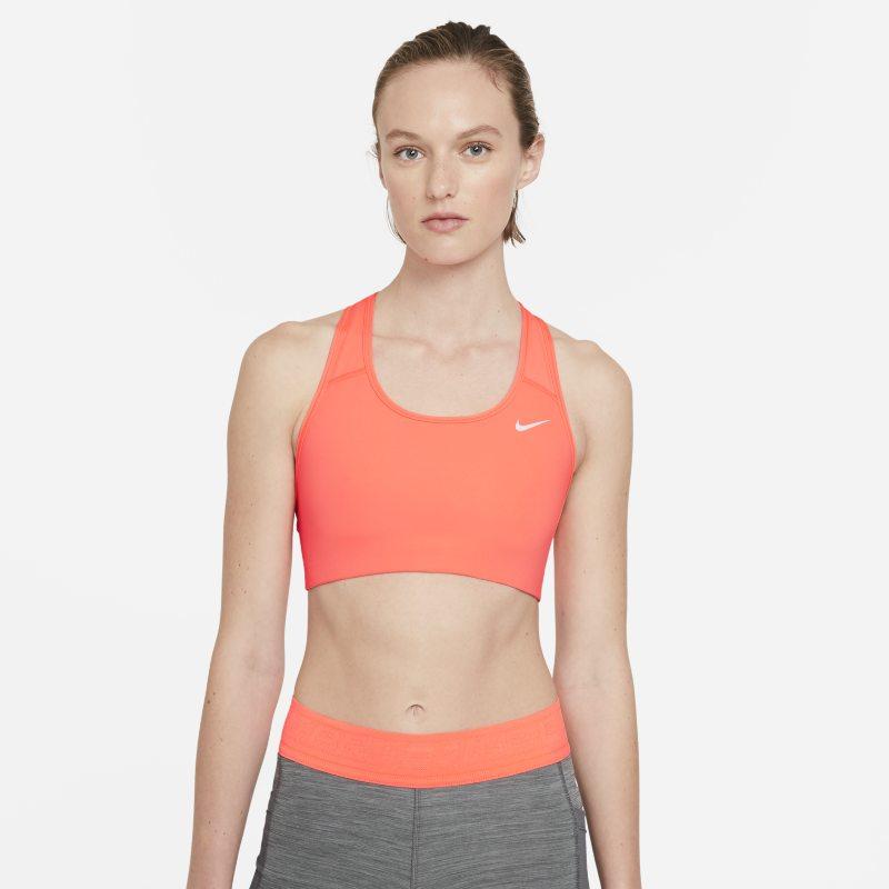 Nike Swoosh Sujetador deportivo de sujeción media sin acolchado - Mujer - Naranja