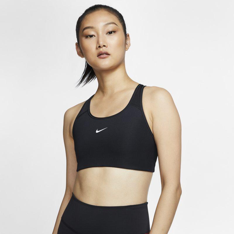 Nike Dri-FIT Swoosh Sport-bh met medium ondersteuning en pad uitéén stuk - Zwart