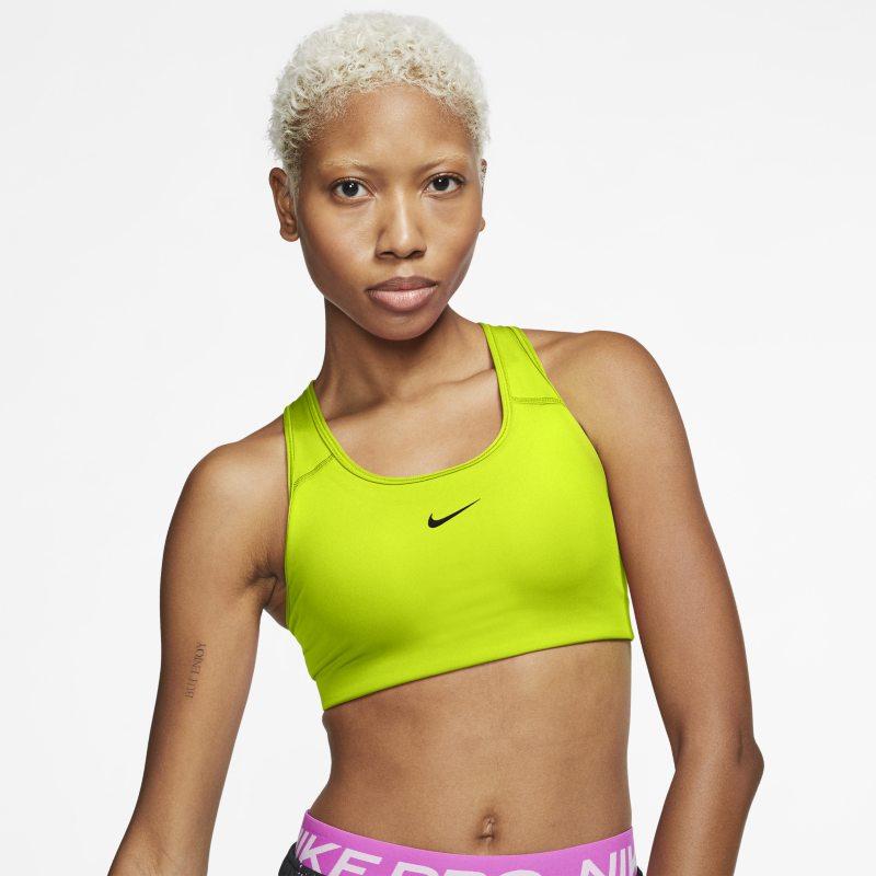 Nike Swoosh Sujetador deportivo de sujeción media con almohadilla de una sola pieza - Mujer - Verde
