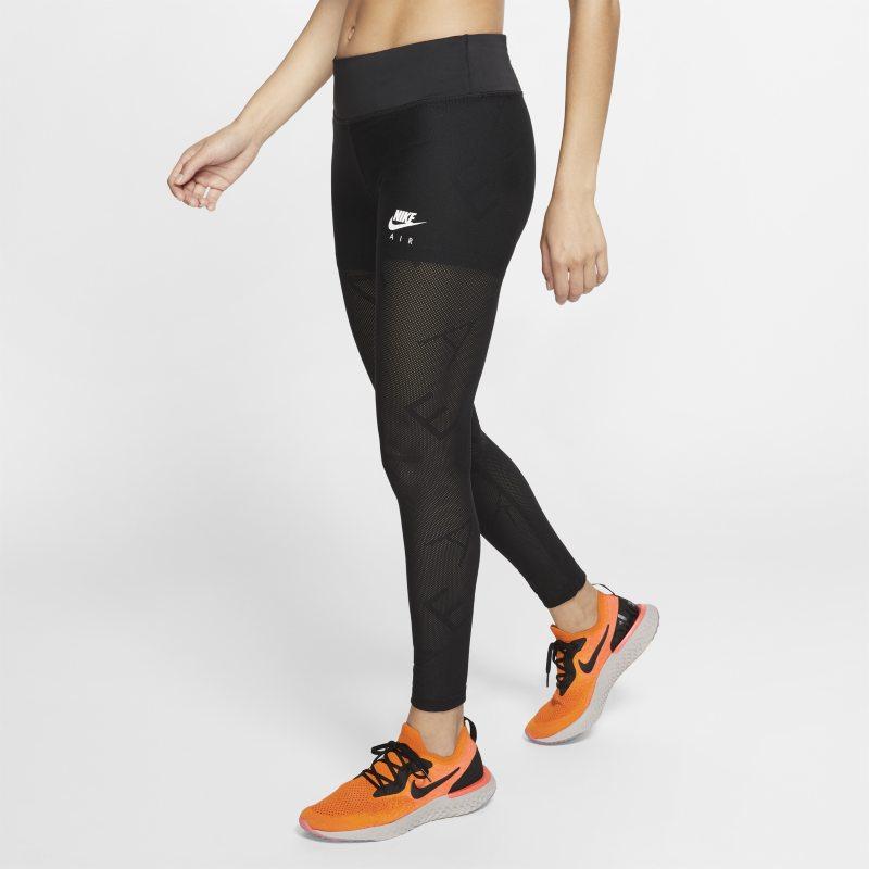 Nike Air Mallas de running de tejido de malla de 7/8 - Mujer - Negro