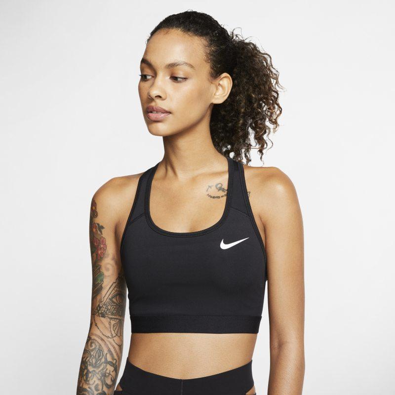 Nike Dri-FIT Swoosh Sujetador deportivo de sujeción media sin acolchado - Mujer - Negro