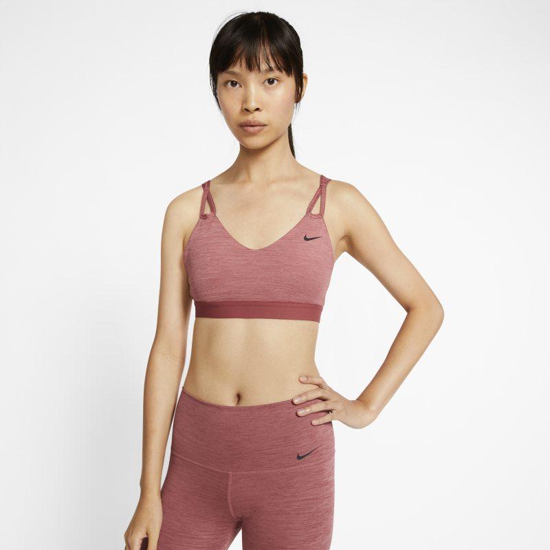 Nike Yoga Sujetador deportivo de sujeción ligera - Mujer - Rojo