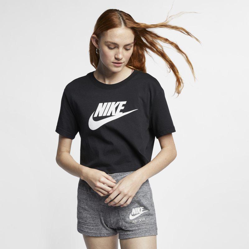 Nike Sportswear Essential Kort T-shirt voor dames - Zwart