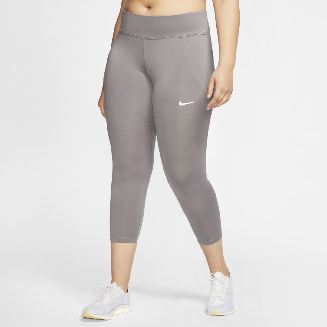 Nike Nike Fast Women S Cropped Running Tights Plus Size Size 2x Grey Bv6695 056 From Nike Shefinds