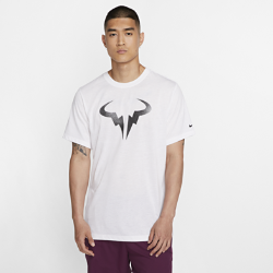 <ナイキ(NIKE)公式ストア>ナイキコート Dri-FIT ラファ メンズ グラフィック テニス Tシャツ BV7023-100 ホワイト ★30日間返品無料 / Nike+メンバー送料無料!画像