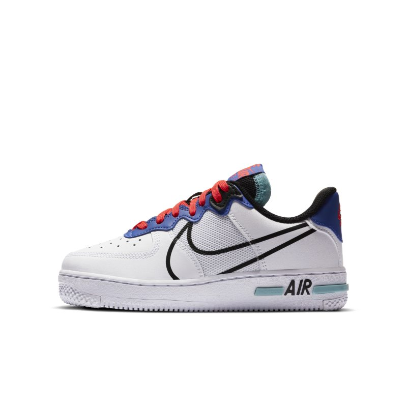 Nike Air Force 1 React Schuh für ältere Kinder – Weiß