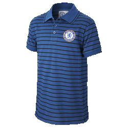Chelsea FC Yarn-Dye Stripe Older Kids' Polo