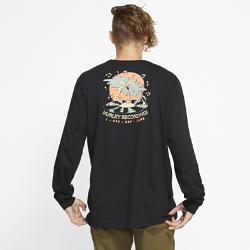 お買得!2019年秋冬発売 !ハーレー プレミアム レコード パームズ メンズ ロングスリーブ Tシャツ CI0334-010 ブラックの画像