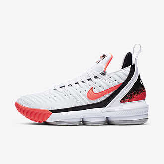 0b9ae68a11 LeBron XVI Hot Lava White. Shoe