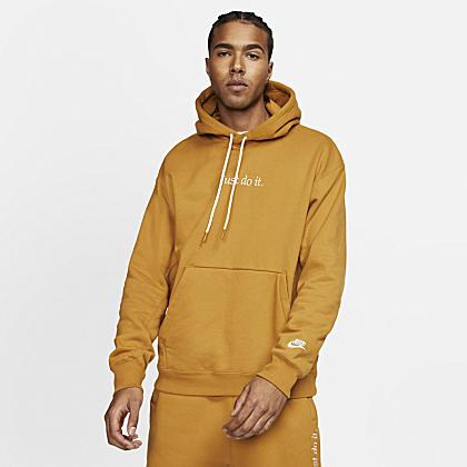 nike all over swoosh hoodie yellow