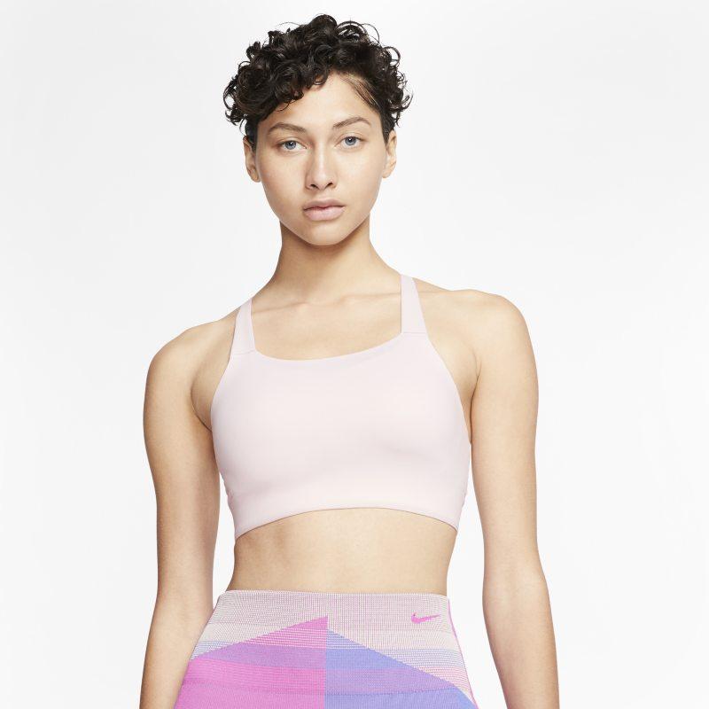 Nike Swoosh Luxe Sujetador deportivo de sujeción media - Mujer - Rosa