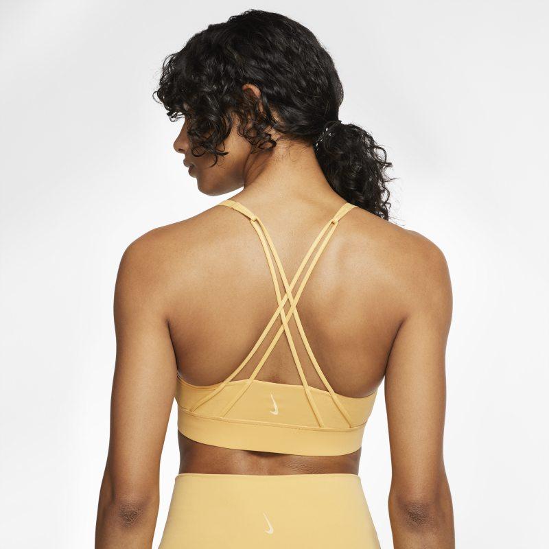 Nike Swoosh Luxe Sujetador deportivo de sujeción media - Mujer - Amarillo