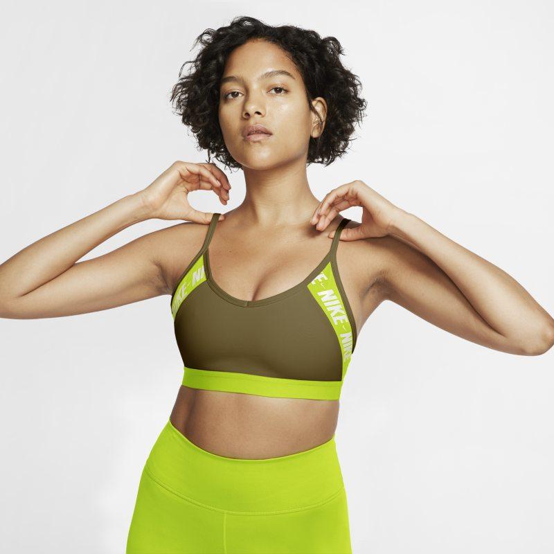 Nike Dri-FIT Indy Sujetador deportivo de sujeción ligera con acolchado y logotipo - Mujer - Verde