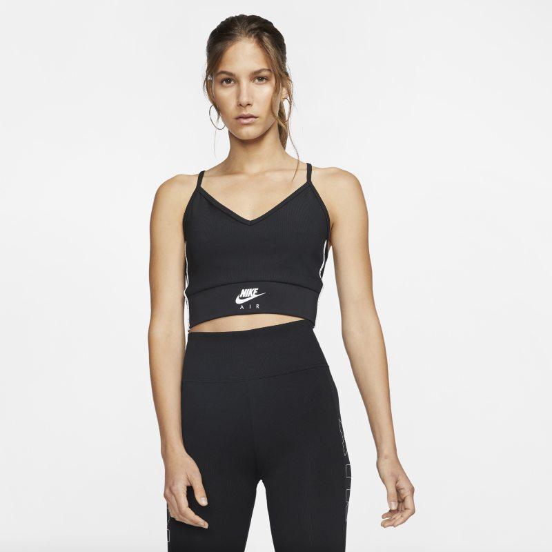 Nike Air Korte tanktop voor dames - Zwart