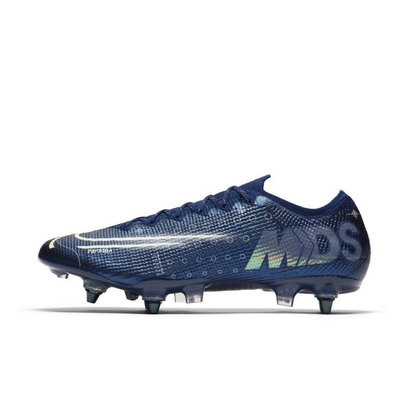 Nike Nike Mercurial Vapor 13 Elite MDS SG-PRO Anti-Clog Traction Soft-Ground Football Boot - Blue