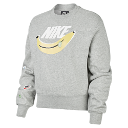 最新2020年2月新着!<ナイキ(NIKE)公式ストア>【ナイキ直営店 / Nike.com限定】ナイキ スポーツウェア ウィメンズ フリース クルー CK4436-063 グレー画像