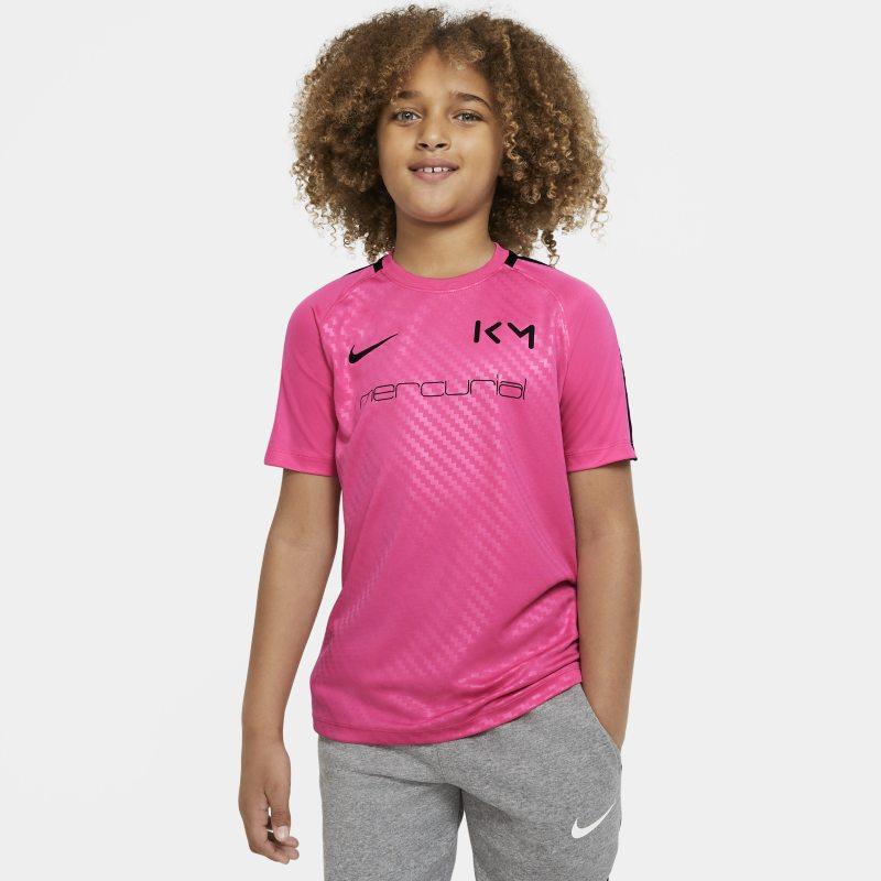 Nike Dri-FIT Kylian Mbappé Voetbaltop met korte mouwen voor kids - Roze