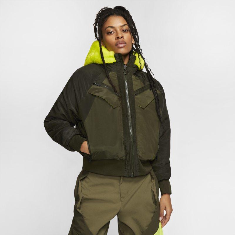 Nike Jordan Womens Reversible Bomber Jacket - Green