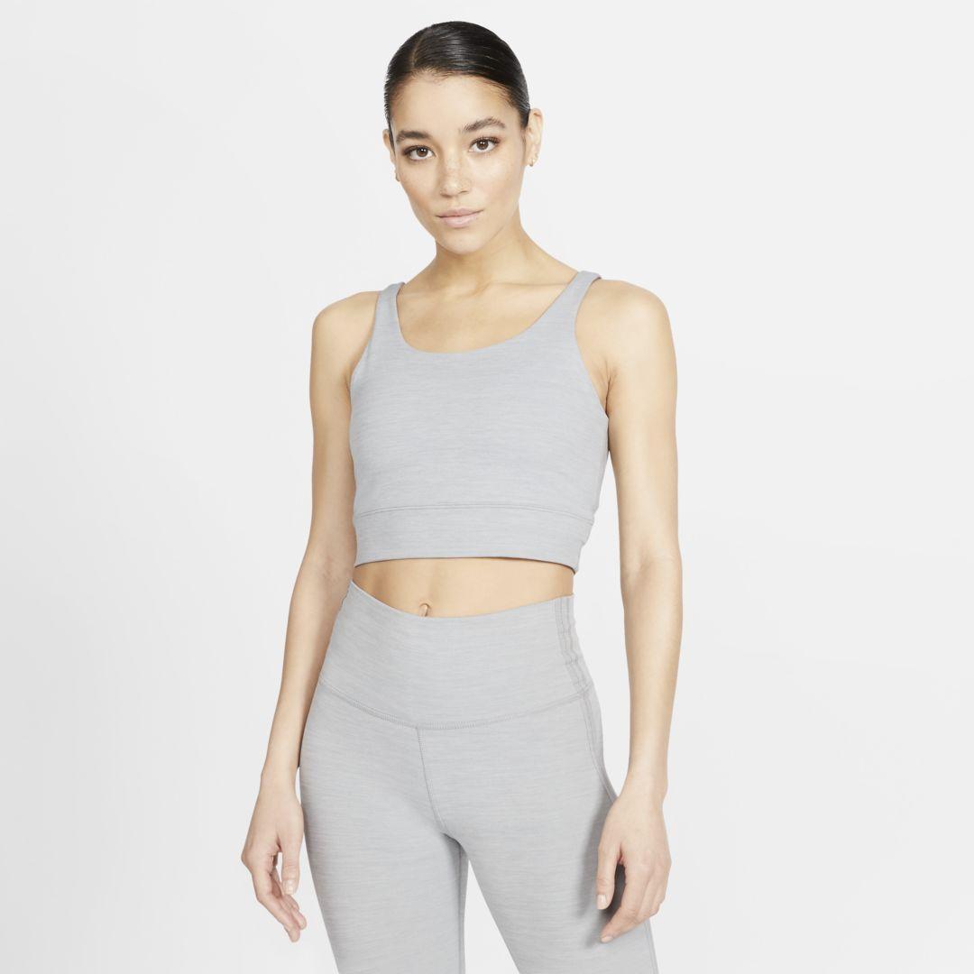 Nike Nike Yoga Luxe Women S Infinalon Metallic Tank Size M Grey Heather Cq8965 073 From Nike Sportspyder