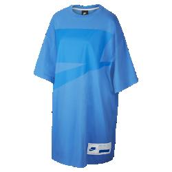 最新2020年2月新着!<ナイキ(NIKE)公式ストア>ナイキ スポーツウェア NSW ウィメンズ オーバーサイズ ショートスリーブ ドレス CT0873-402 ブルー画像