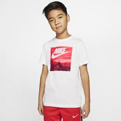 最新2020年2月新着!<ナイキ(NIKE)公式ストア>ナイキ エア ジュニア (ボーイズ) Tシャツ CT2627-100 ホワイト画像