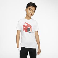 最新2020年2月新着!<ナイキ(NIKE)公式ストア>ナイキ スポーツウェア ジュニア (ボーイズ) Tシャツ CT2641-100 ホワイト画像