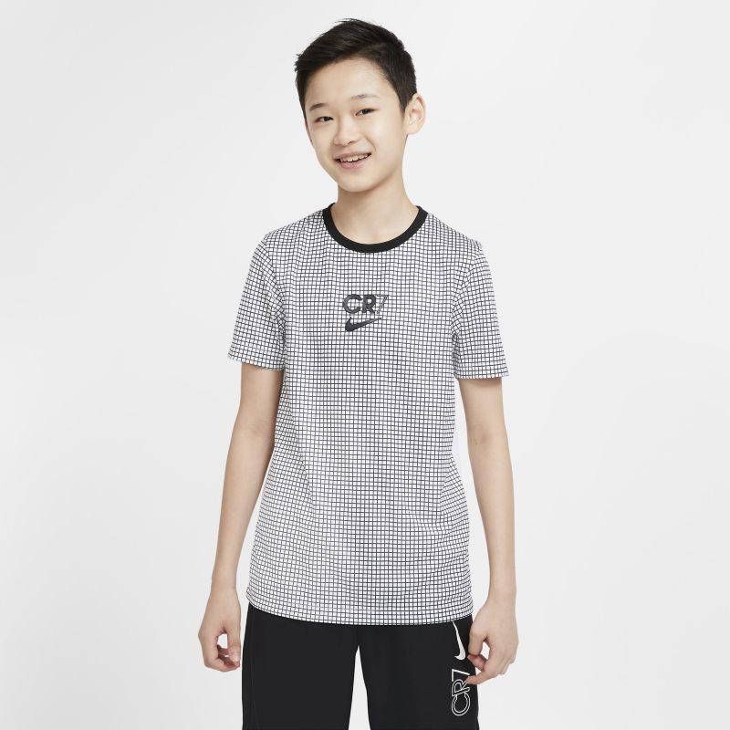 Nike Dri-FIT CR7 Voetbaltop met korte mouwen voor kids - Wit