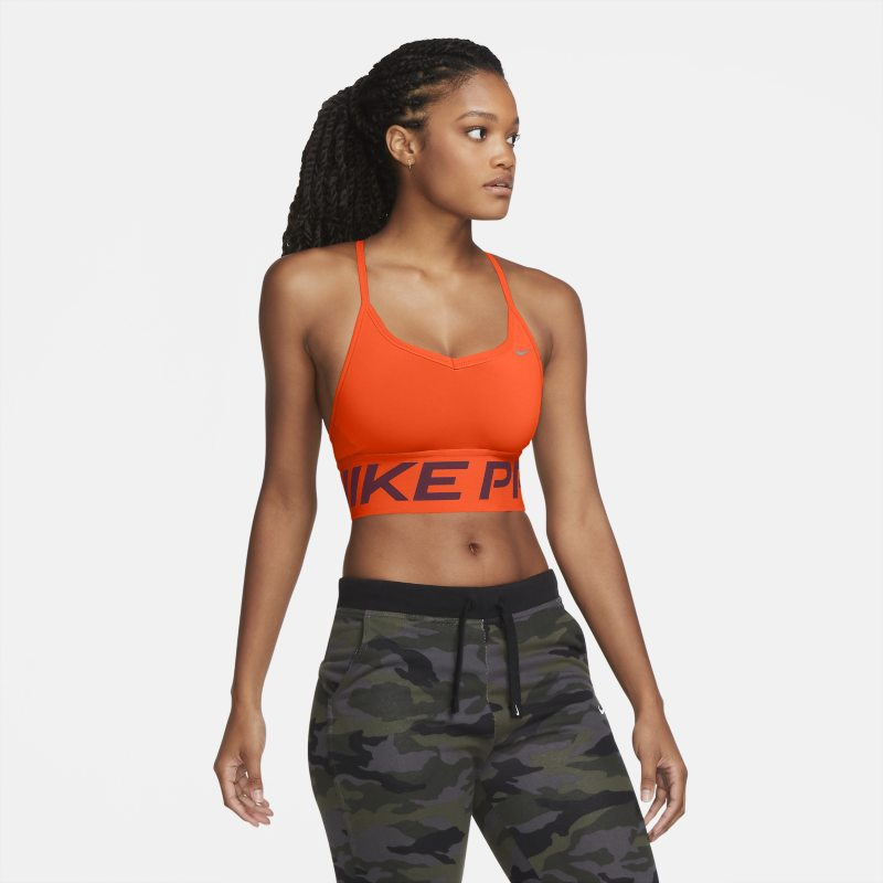 Nike Pro Indy Sujetador deportivo de sujeción ligera - Mujer - Naranja