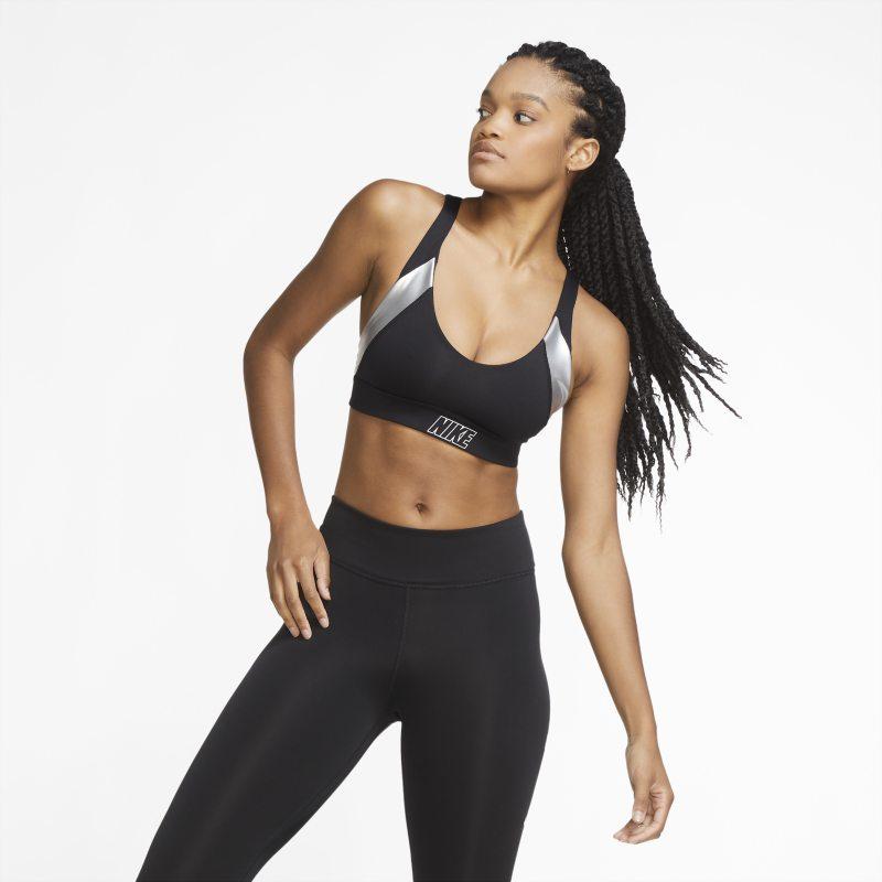 Nike Indy Sujetador deportivo metalizado de sujeción ligera - Mujer - Negro
