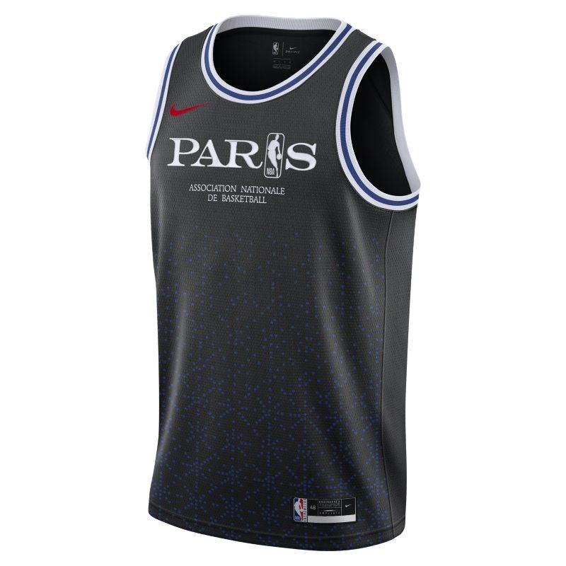 Paris Swingman Nike NBA-Trikot für Herren – Schwarz