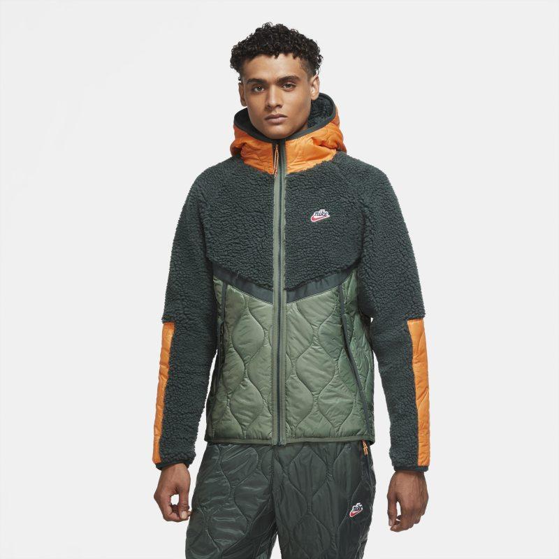 Nike Heritage Essentials Jack met capuchon, ritssluiting en fleece panelen in groen online kopen